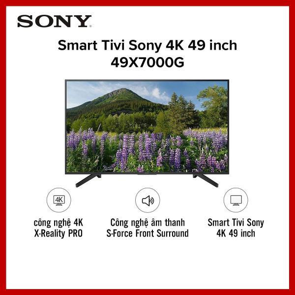 Bảng giá Smart Tivi Sony 4K 49 inch 49X7000G - công nghệ HDR10 - Hệ điều hành Linux OS -  Hàng phân phối chính hãng - Bảo hành 2 năm Điện máy Pico