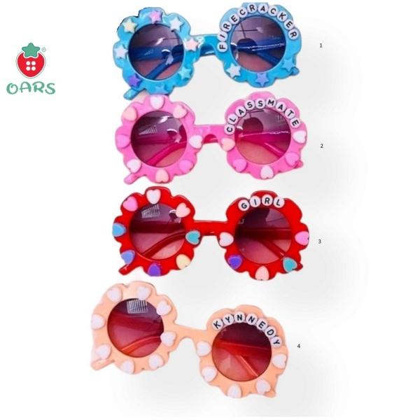 Giá bán Mắt kính trẻ em cho bé trai và bé gái chống tia UV ❤️ Mắt kiếng đi biển đi du lịch đi chơi thời trang hoa hướng dương