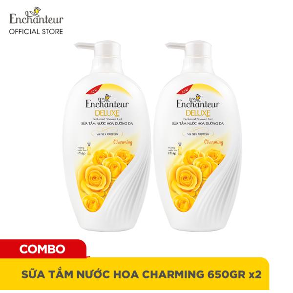 Combo 2 Sữa tắm nước hoa dưỡng da Enchanteur Charming 650gr/ Chai giá rẻ
