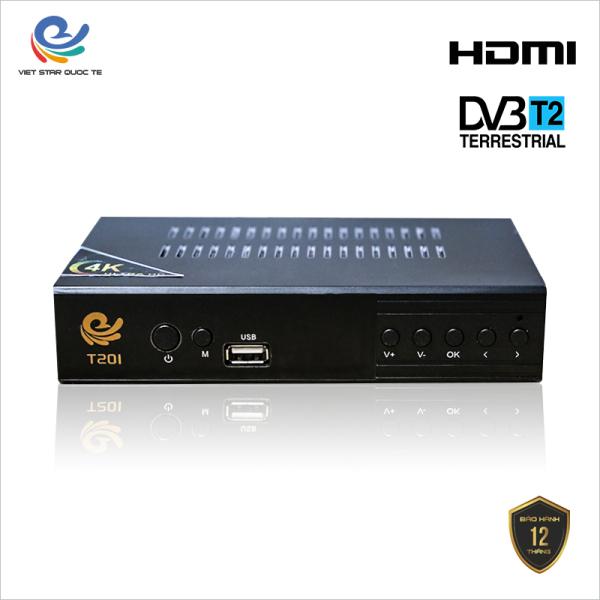 Đầu Thu Kỹ Thuật Số Vstar T201 Bản Nâng Cấp DVBT2, dau thu truyen hinh mat dat Dvb t2, Full HD 1080p thu được hơn 80 kênh truyền hình phổ thông, Bảo hành 12 tháng, đổi trả mới trong vòng 7 ngày, VSTART201TL