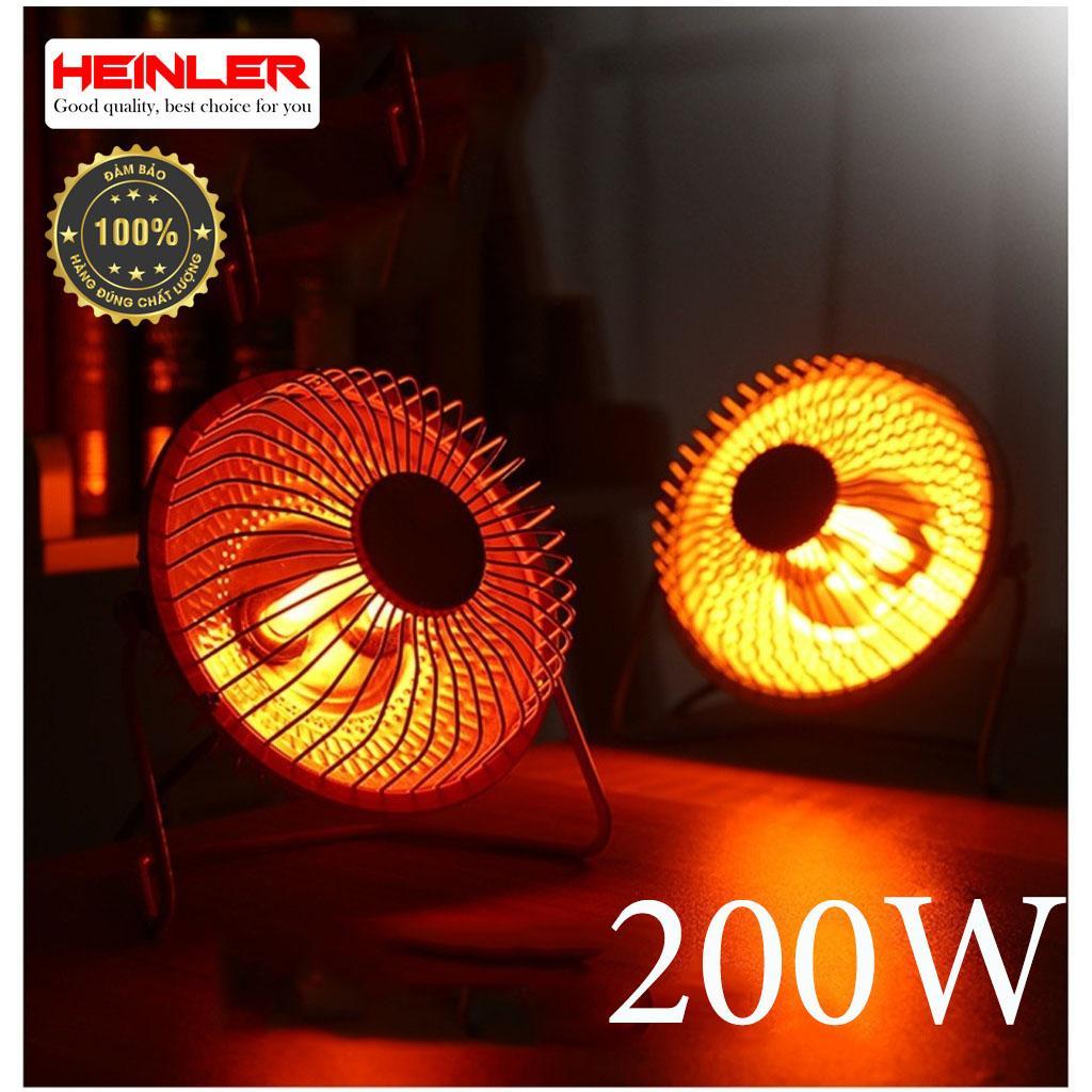 Quạt Sưởi Heinler HL-2333 Mini Heater Fan 6 Inch, Quạt Sưởi Mini để Bàn, Cắm điện 220v, Công Suất 200W (Đen) Có Giá Siêu Tốt