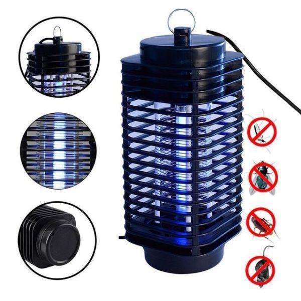 Bóng đèn diệt côn trùng, Đèn Diệt Côn Trùng kiêm đèn ngủ Electronical Mosquito Killer 2021, bóng đèn FL6BL-A 1 x 6W tiết kiệm điện, kiểu dáng sang trọng, hiểu quả cao, bảo hành 12 tháng