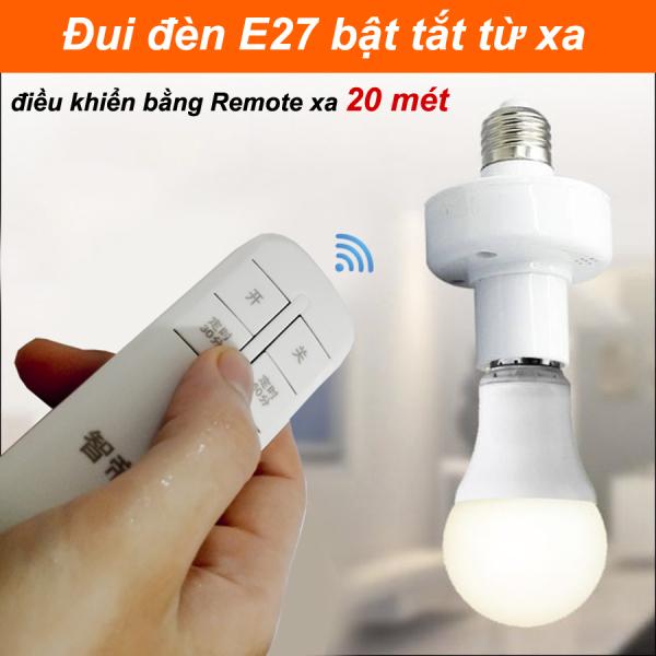 Đuôi đèn E27 Bật Tắt điều khiển từ xa 20 mét có Remote LK202