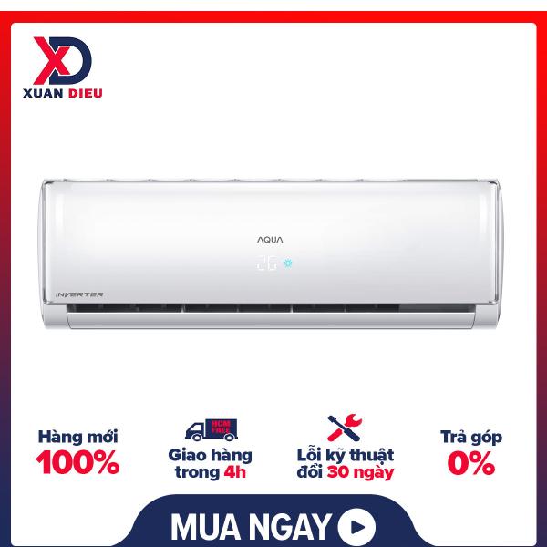 Bảng giá Máy lạnh Aqua Inverter 1.5 HP AQA-KCRV13TH - Chế độ tiết kiệm điện Inverter, Chức năng tự làm sạch AQUA FRESH, Luồng gió 3D, Chế độ siêu tĩnh, Lớp chống ăn mòn Bluefin, Hiển thị nhiệt độ trên dàn lạnh . GIAO HÀNG MIỄN PHÍ HCM