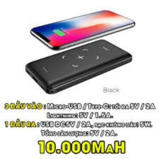 [SALE - GIÁ SỐC] Pin Sạc Dự Phòng KHÔNG DÂY Chính Hãng HOCO dung lượng 10.000mah - Bảo hành 12 tháng - Phù hợp cho Samsung S8 9 10, Note 8 9 10, iPhone X trở lên,... thumbnail
