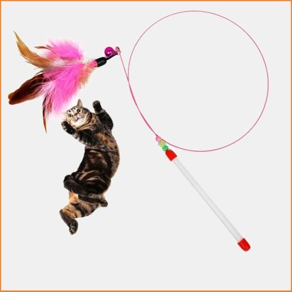 HN-SP1214 – Đồ chơi cho mèo - Cần CÂU MÈO Dẻo (dây thép dài) cần câu cho mèo chơi
