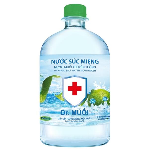 Nước súc miệng dr muối 1000ml ( thùng ) giá rẻ