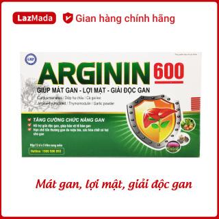 Viên uống ARGININ600 - Cà gai leo, actiso, tỏi đen, diệp hạ châu - Giúp giải độc gan, mát gan, lợi mật, tăng cường chức năng gan hiệu quả - Hộp 60 viên chuẩn GMP Bộ Y tế thumbnail