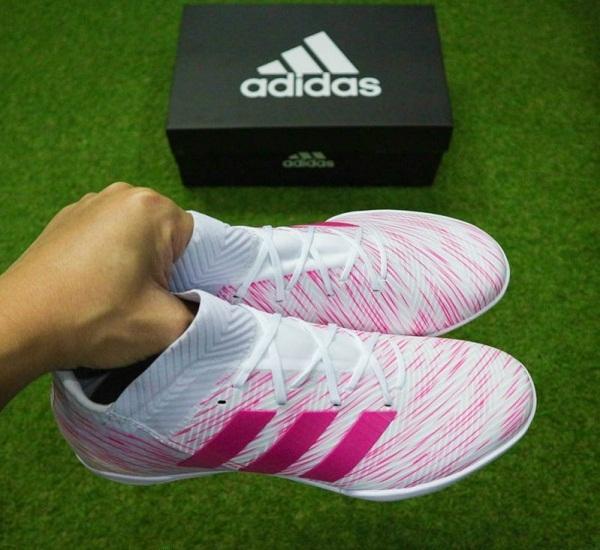 Giày đá bóng Nemeziz 18.3 TF Trắng hồng