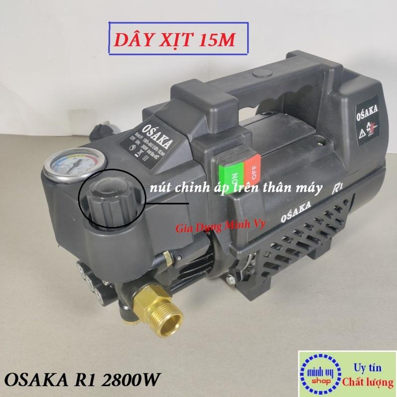 Máy xịt rửa xe chỉnh áp Osaka R1 - 2800W - Dây 15 mét