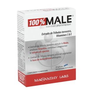 [ Hàng Pháp] Hộp 30 viên 100% Male- Giúp duy trì và tăng cường sinh lý của phái mạnh thumbnail