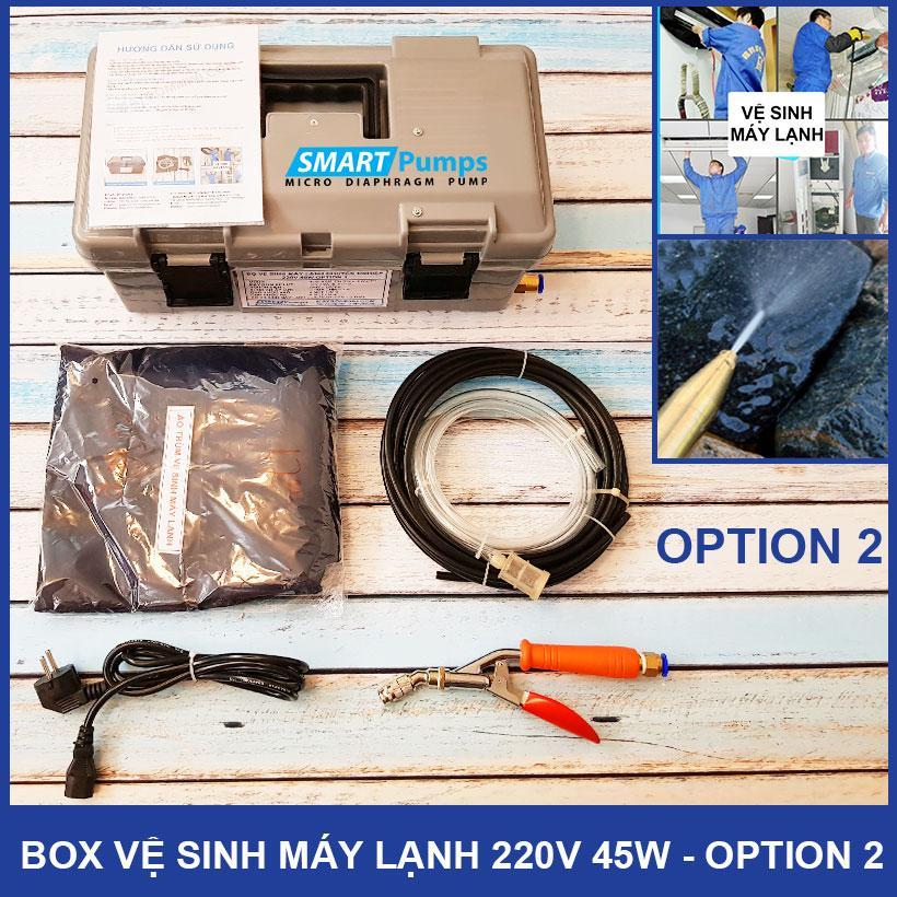 Box Xịt Vệ Sinh Máy Lạnh Chuyên Nghiệp 45W 220V Option 2