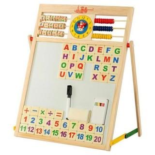Bảng từ 2 mặt Education Board và bộ chữ số cho bé-bảng gỗ giáo dục cho bé có mặt nam châm thumbnail