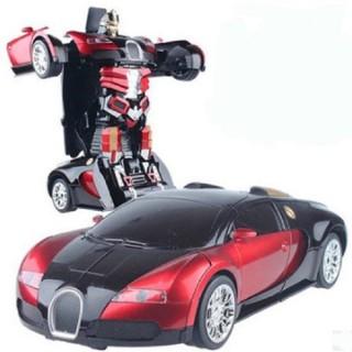 Đồ chơi ô tô biến hình thành Robot dùng pin, phát nhạc thumbnail