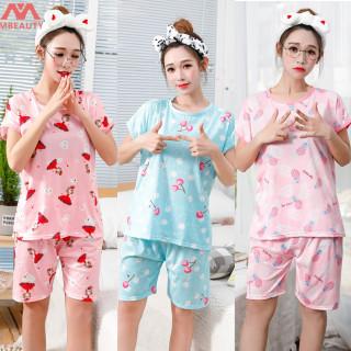 Đồ Ngủ Cotton Cho Nữ Váy Ngủ Ngắn Tay Hoạt Hình Thoải Mái Phục Vụ Tại Nhà thumbnail