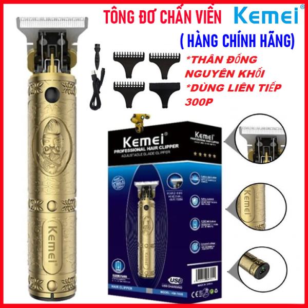 [Hàng Chính Hãng] Tăng đơ, tông đơ cắt tóc Kemei Km 700B chuyên nghiệp kiêm chấn viền, bấm viền, cạo viền người lớn, trẻ em không dây( tong do cat toc)