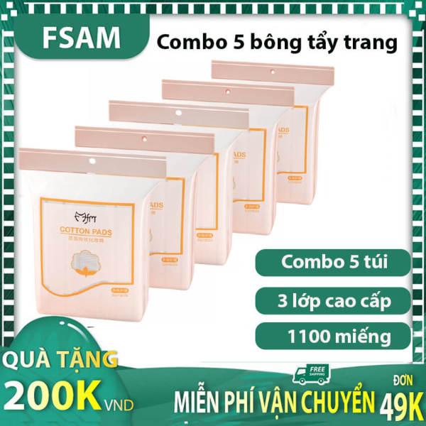 Combo Bông Tẩy Trang 5 Túi 1000 Miếng Loại Tốt Ko Thua Hàng Nhật, Mua Cotton pads 220M Giá Tốt Tại Fsam Store