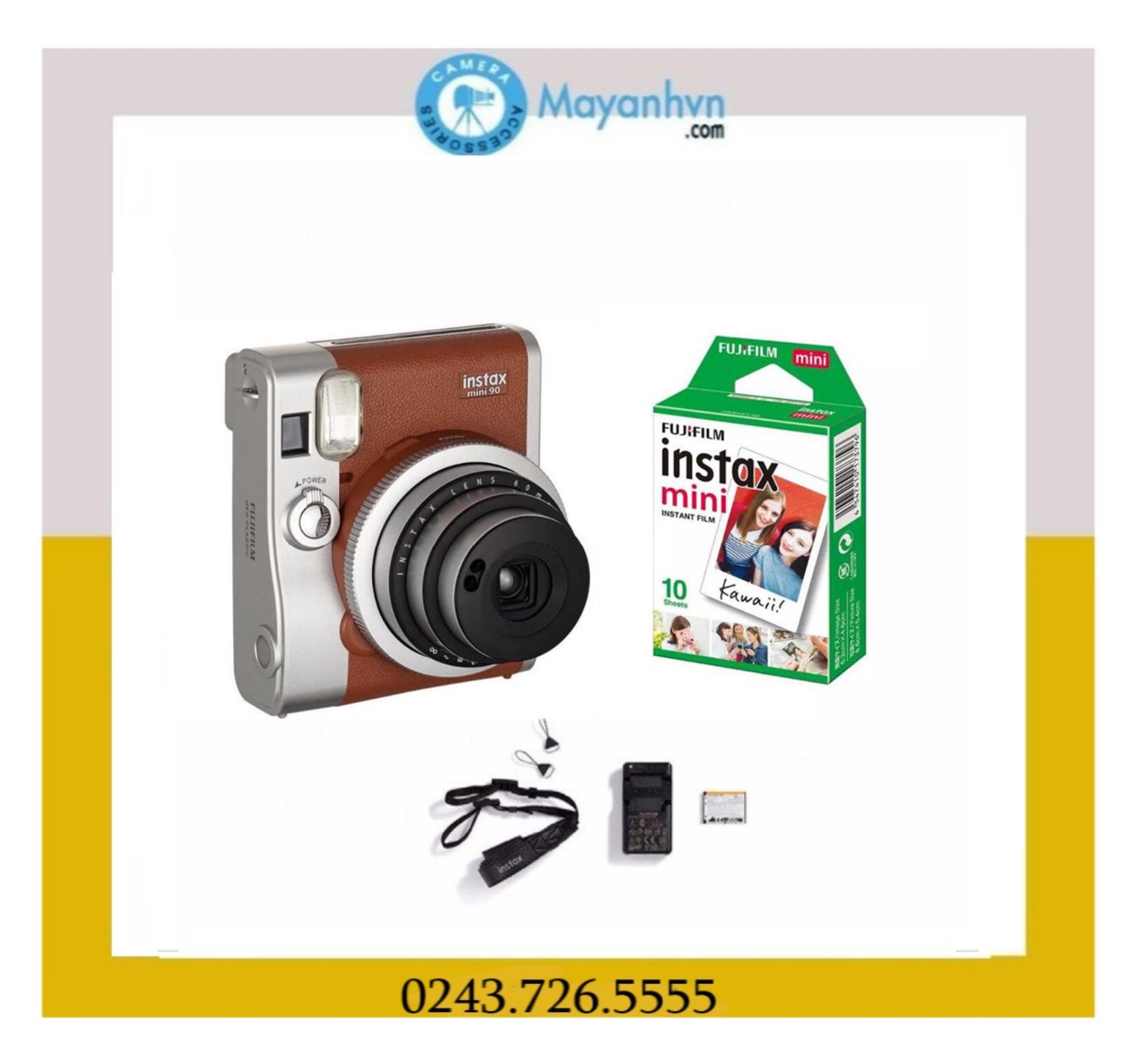 Giá Quá Tốt Để Có Bộ Máy ảnh Chụp Lấy Liền Fujifilm Instax Mini 90 (Nâu) Và Giấy In Cho Máy ảnh Fujifilm Instax Mini