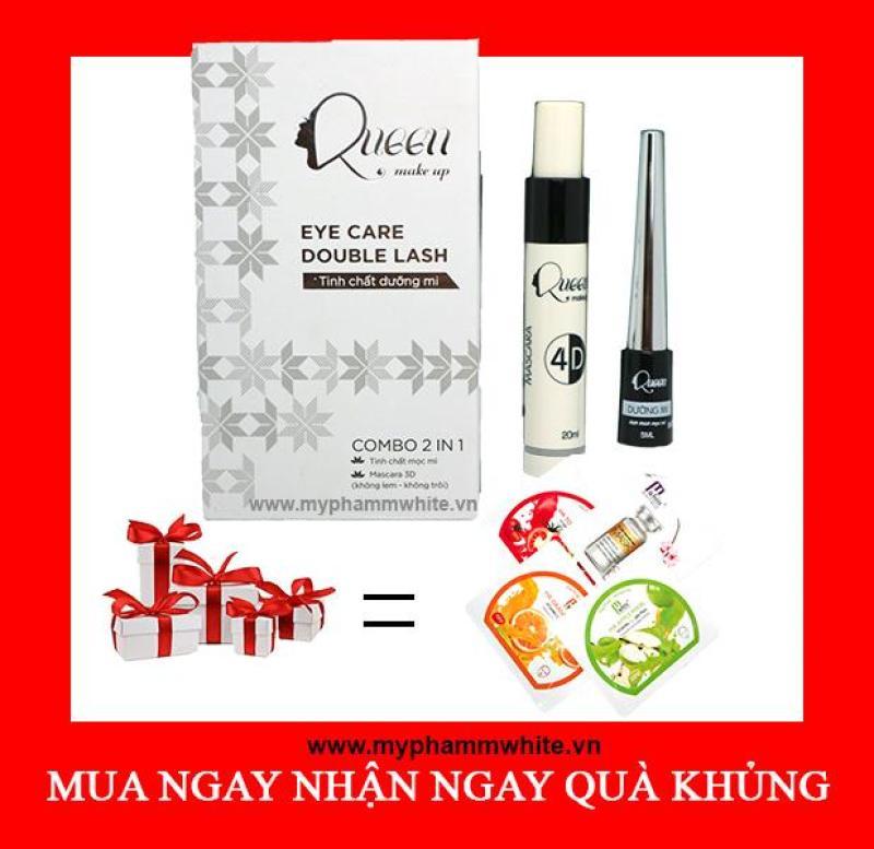 Tinh chất mọc mi tặng mascara Queen + Tặng đắp mặt nạ vitamin