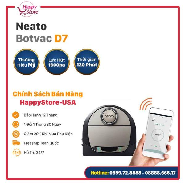 ROBOT HÚT BỤI NEATO BOTVAC D7 CONNECTED - BẢN QUỐC TẾ NHẬP KHẨU MỸ