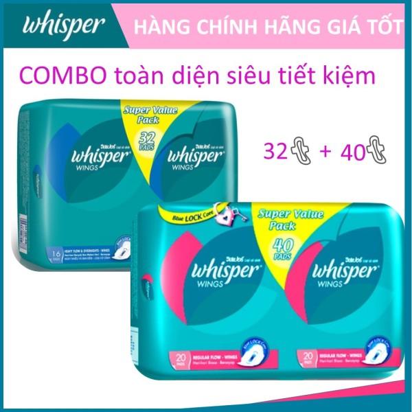 COMBO toàn diện 2 gói Whisper Cánh dày Ngày 40s+ Đêm 32s