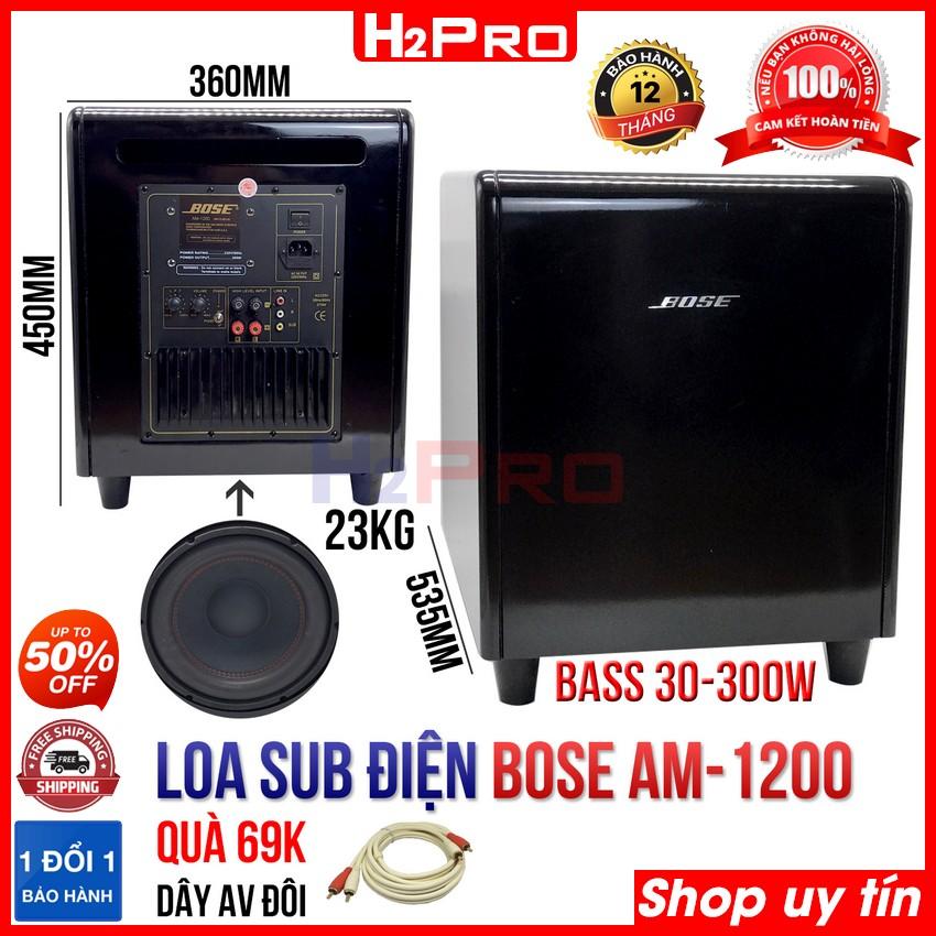 Loa sub điện bass 30 AM-1200 H2Pro-hàng nhập, 300W-bass ấm căng, loa siêu trầm karaoke cao cấp (tặng dây AV đôi 1.8m 69K)