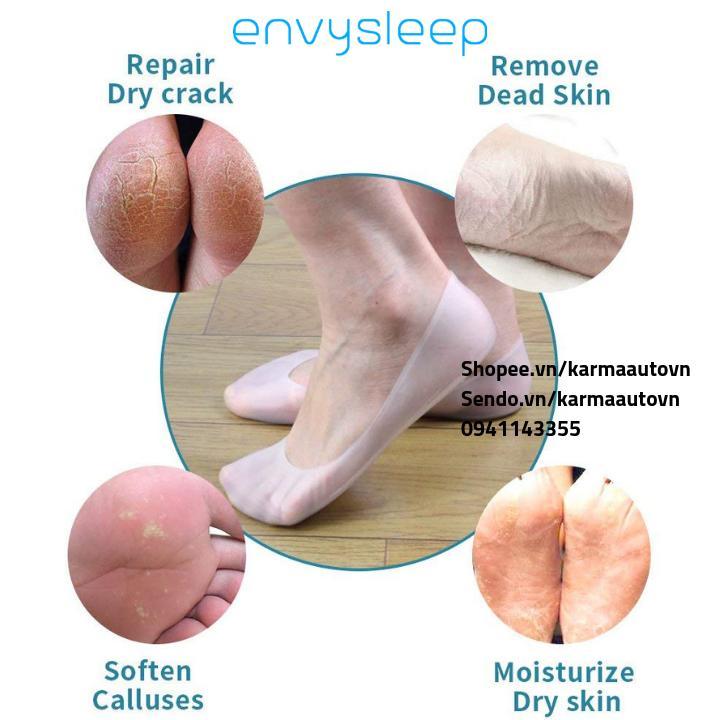 Lót giầy silicon giảm chai, mềm da bàn chân ENVYSLEEP, bộ 2 cái