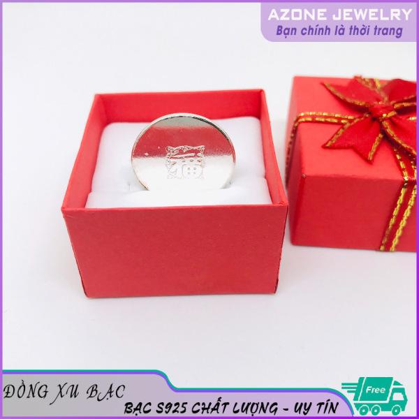 Đồng xu | Đồng xu bạc cạo gió [FREESHIP] Bạc S925 Đường kính 2.0cm #AZDX001- Azone 24h Đồng xu bạc Đồng xu bạc đánh gió cao cấp