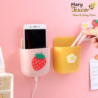 Hộp đựng điện thoại dính tường Mary Texco khi xạc điện thoại thông minh, đựng remote tiện lợi giúp không gian gọn gàng (kèm keo dán sẵn) thumbnail