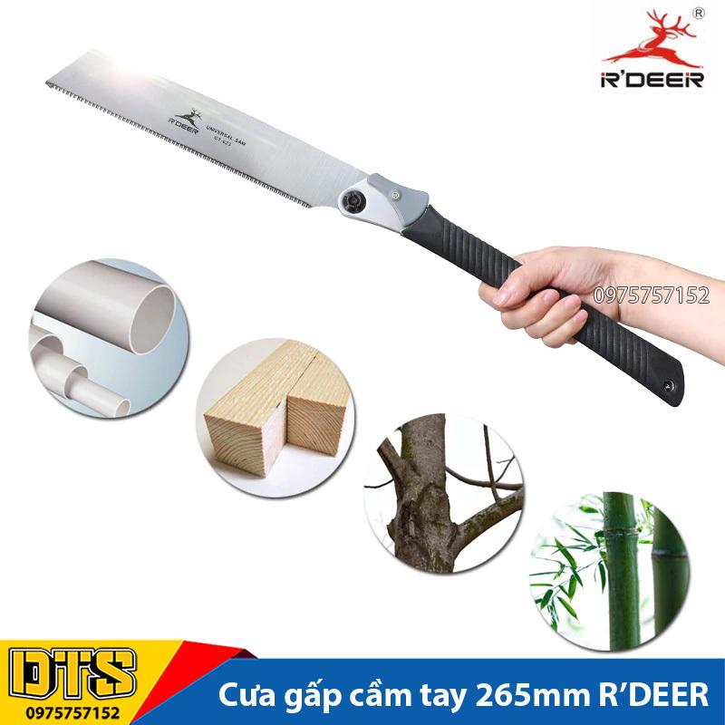 Cưa đa năng cầm tay RDEER, cưa gỗ cán xếp, cưa gấp gọn thép Mangan dụng cụ làm vườn chuyên nghiệp
