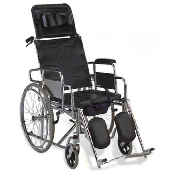Xe lăn đa năng có bô vệ sinh, ngả nằm, 2 tay phanh, chống lật Lucass X7A