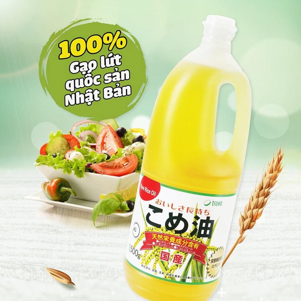 Dầu gạo CAO CẤP SỐ 1 NHẬT BẢN(Tsuno 1500gr) Nội địa Nhật Bản