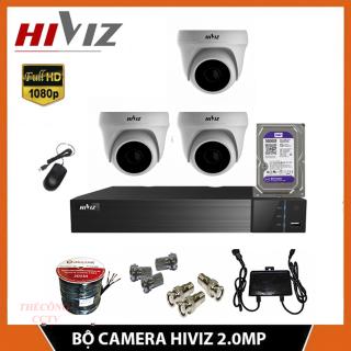 TRON BỘ 3 CAMERA HIVIZ FULL HD 2.0MP TRONG NHÀ thumbnail
