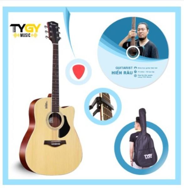 Đàn Guitar Acoustic Rosen G11 Vàng Gỗ +Tặng kèm khóa học của Guitarist Hiển râu và đầy đủ phụ kiện