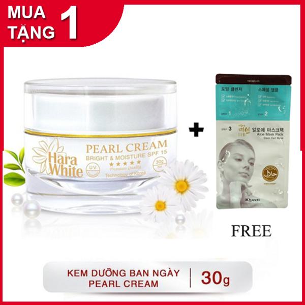 Kem dưỡng trắng da Ngọc Trai ngăn ngừa lão hóa, nhăn da, se khít lỗ chân lông Hara White Pearl Cream 30g
