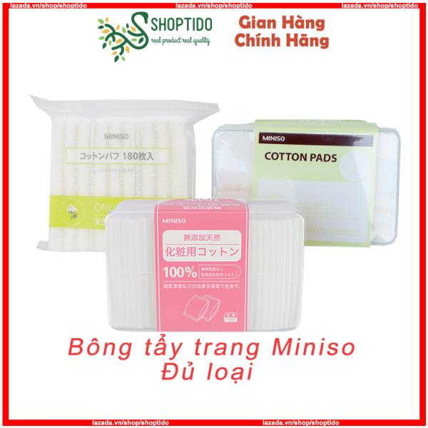 Bông tẩy trang Miniso dạng hộp, dạng túi Shoptido