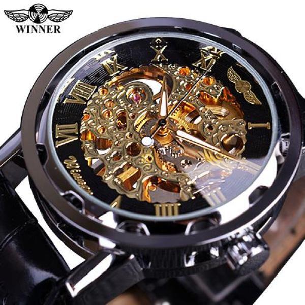 Winner Luxury Brand Mechanical Watches Men Skeleton Dial Clock Roman Casual Wristwatches Relogio Men Mechanical Hand Wind Watch