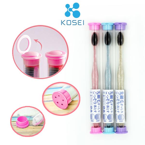 Bàn Chải Đánh Răng Nhật Bản KOSEI - có ống treo thoáng khí, tiện lợi
