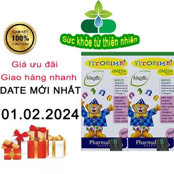 [Giảm Giá ] Fitobimbi Omega Junior - Phát Triển Trí Não Cho Bé (Lọ Nhỏ Giọt 30Ml) - Nhập Khẩu Từ Ý