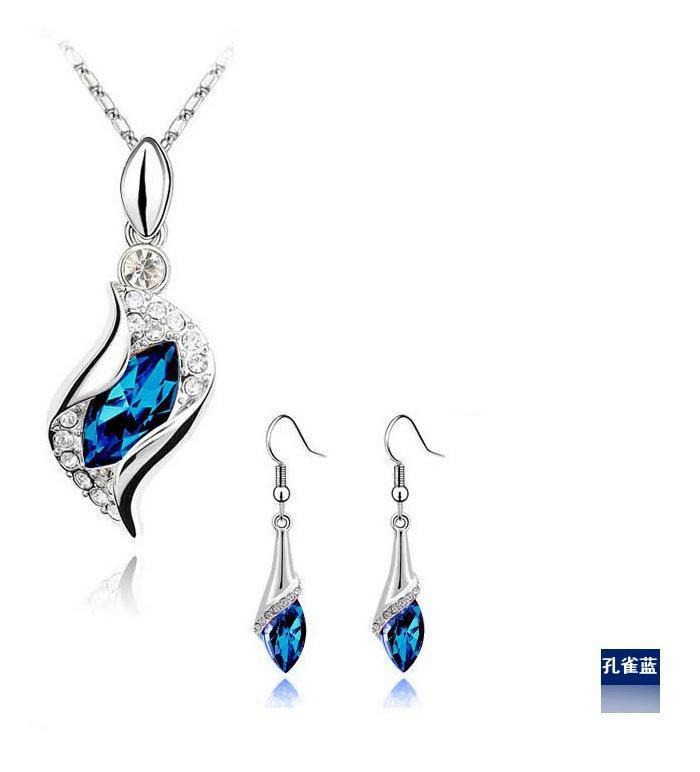 Perhiasan Kristal Austria Setelan Kristal-Peri Malaikat (Polychrome) Perhiasan Set U5Q2