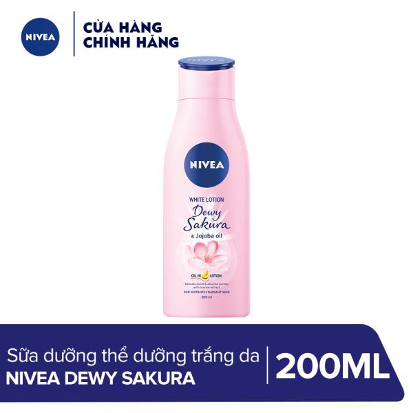 Sữa dưỡng thể dưỡng trắng da Nivea Dewy Sakura (200ml) - 85701 nhập khẩu