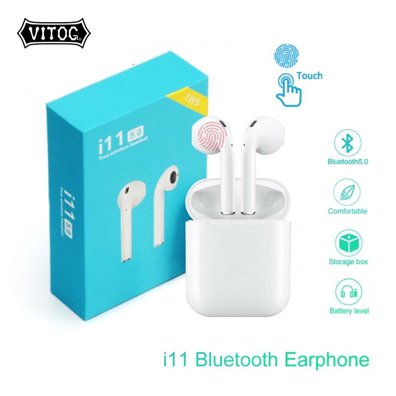 Tai Nghe Bluetooth Không Dây i11 Bản Plus Âm Thanh v5.0 Cảm ứng phiên bản mới nhất, giống airpods 1 2 kết nối với điện thoại iphone samsung xiaomi oppo... VÂN VÂN , TIỆN LỢI NHỎ GỌN TÍNH NĂNG HIỆN ĐẠI ĐẲNG CẤP 5.0