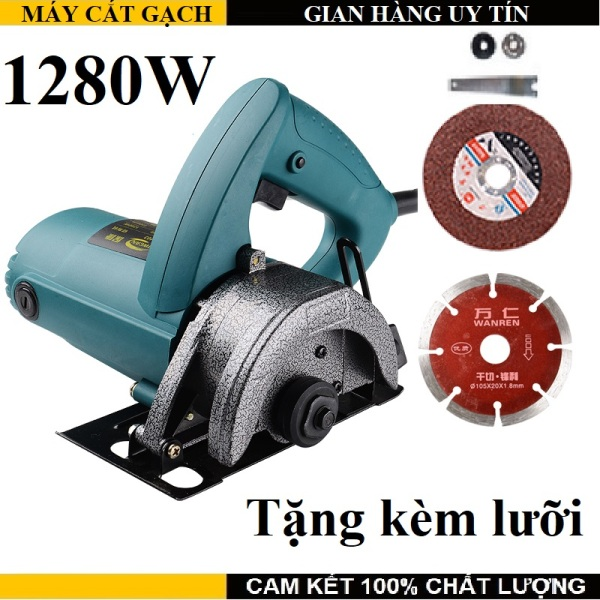 Máy cắt gạch - Xuất xứ thương hiệu : Đài Loan - Tặng kèm 2 lưỡi - Sản phẩm tốt vượt bậc trong tầm giá