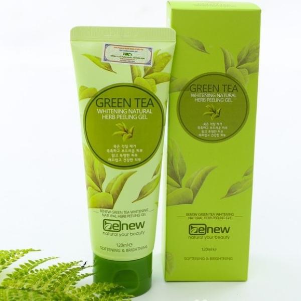 Kem Tẩy Da Chết Sạch Da Ngừa Mụn Trà Xanh Green Tea Benew Cao Cấp Hàn Quốc (120ml) nhập khẩu