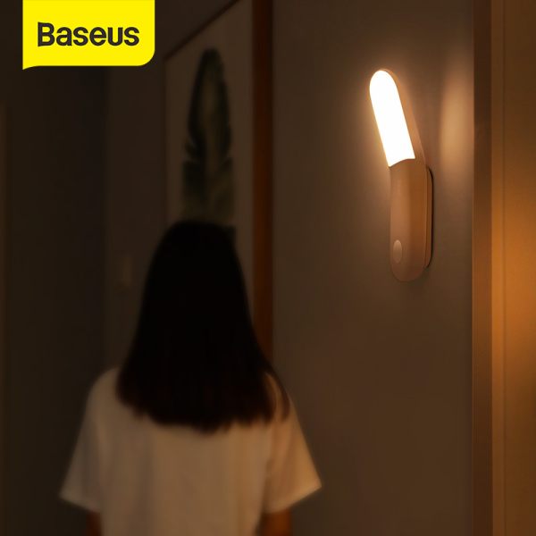 Bảng giá Baseus Induction Led Night Light PIR human body induction Lamp USB Rechargeable Motion Sensor Aisle Light for Bedroom Closet Stairs