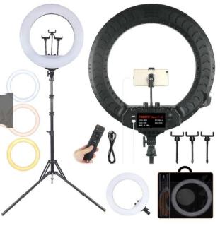[ XẢ KHO ] Đèn Led Livestream Size 54cm Zb-F348 Có Remote Cao Cấp, Hỗ Trợ Livestream Kẹp 3 Điện Thoại, Makeup-Chụp Hình Studio-Bán Hàng Online-Spa-Chụp Hình Sản Phẩm. Đèn Livestream Chuyên Dùng Cho Bán Hàng-Chụp Ảnh-Phun Xăm-Nối Mi thumbnail