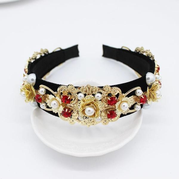 Cài tóc VIP CAO CẤP handmade kim loại gắn hoa và hạt bẹt siêu sang VIP41180