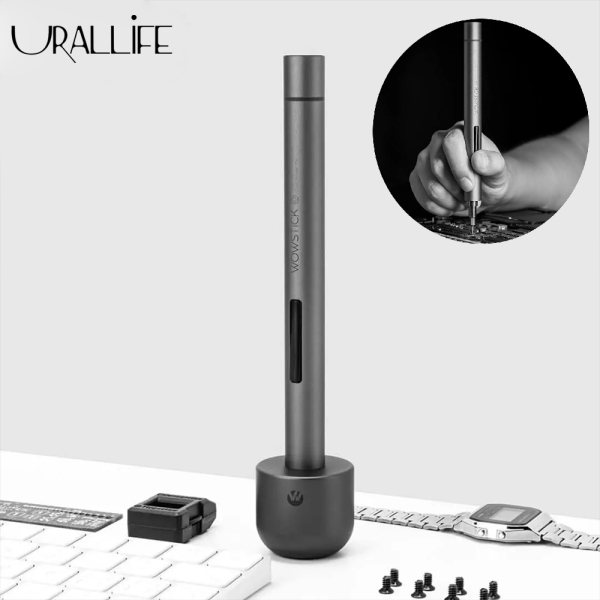 Urallife Xiaomi Ecological Chain Wowstick Portable Rechargeable Electric Screwdriver Set 1f+ Version All Aluminum Body Comfortable Grip 56pcs S2 Batch Heads Dual Power Modes Screw Driver 3LED Working Lights With Magnetic Storage Box