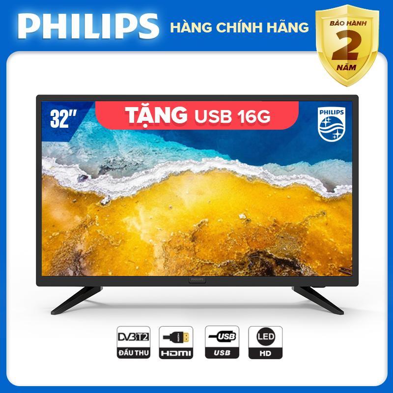 Bảng giá Presale Tivi 32 inch LED HD hàng Thái Lan - Digital TV DVB-T2 tặng quà USB 16G - bảo hành 2 năm tại nhà - 32PHT4003S/74 Tivi Philips