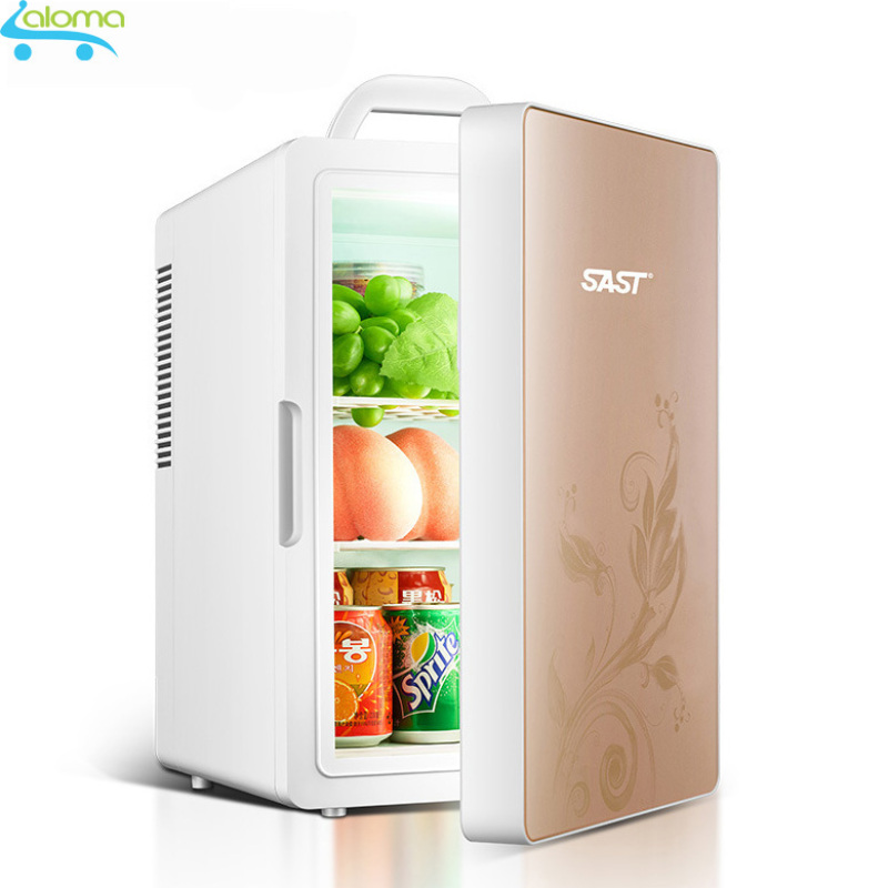 Tủ lạnh mini 2 chế độ hâm nóng và làm lạnh16 lít SAST ST16L cao cấp 2 dây nguồn riêng biệt cho  gia đình và ô tô